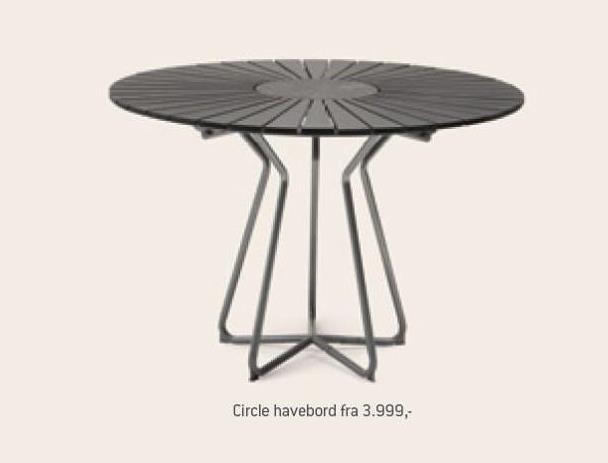 Circle havebord